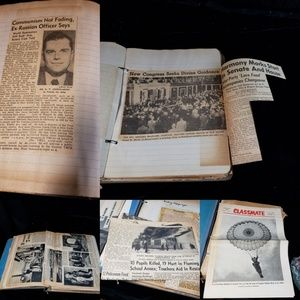 1950's collection of historic newspaper clippings.